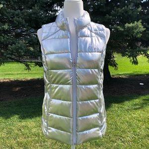 ⚙️Metallic Silver Puffy Vest by FilaSport